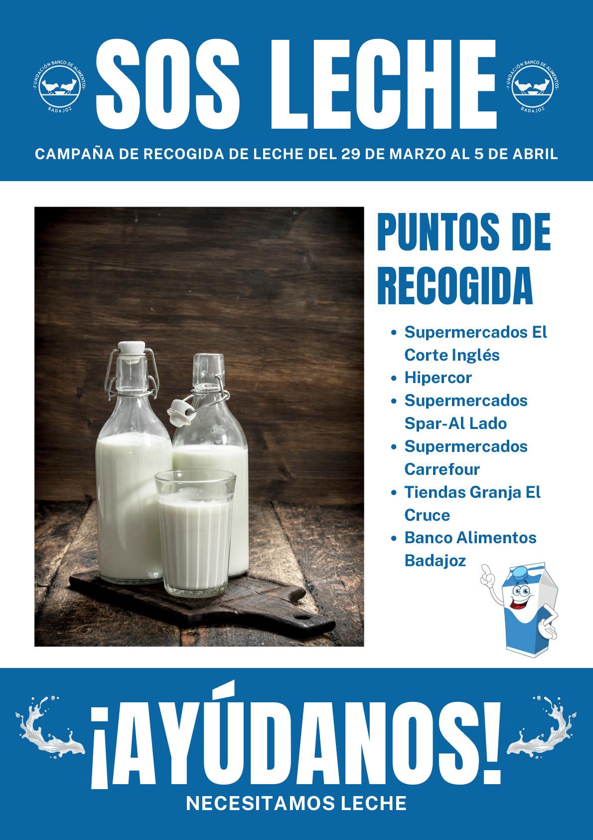 Banco de alimentos de Badajoz - Donación de Leche